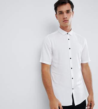 Asos DESIGN Tall skinny stretch viscose shirt in white