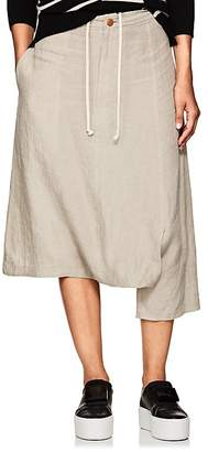 Yohji Yamamoto Regulation Women's Cutout Linen Crop Pants