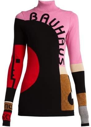 Mary Katrantzou - Marcel Colour Block Top - Womens - Pink Multi