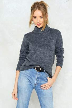 Nasty Gal Take Knit Easy High Neck Sweater