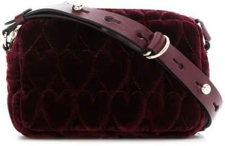 RED Valentino RED(V) heart quilted velvet bag