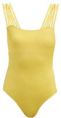 Pepper & Mayne Bikram Ribbed Jersey Bodysuit - Womens - Yellow