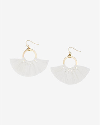 Express Tassel Circle Drop Earrings $22.90 thestylecure.com