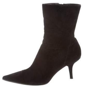 Calvin Klein Pointed-Toe Ankle Boots