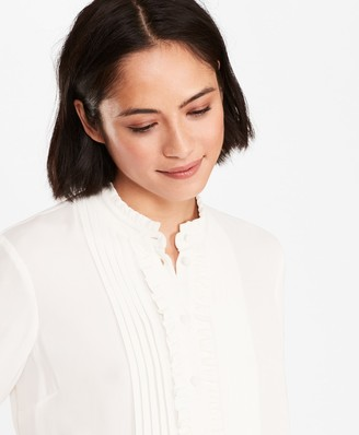 Brooks Brothers Ruffled Crepe Blouse