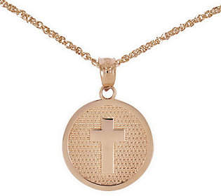 QVC Polished Choice of God Bless Round Pendant w/ 1