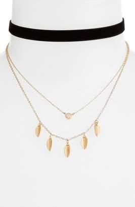 Danielle Nicole Momji Layered Choker Necklace