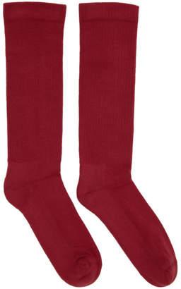 Rick Owens Red Subhuman Socks