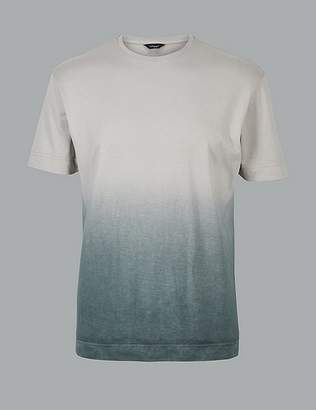 Marks and Spencer Supima® Cotton Textured Crew Neck T-Shirt