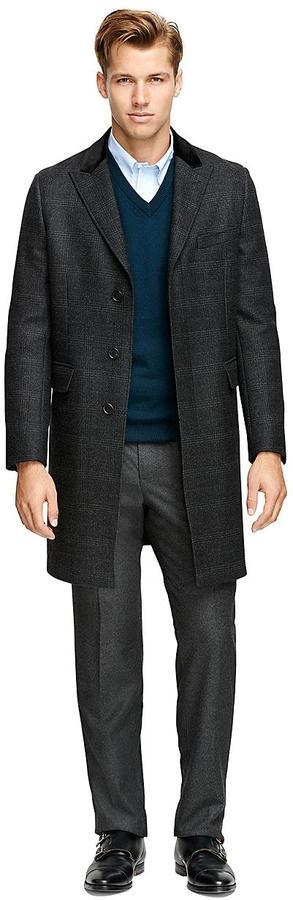 Brooks Brothers Saxxon Wool Chesterfield Overcoat