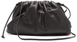 Bottega Veneta The Pouch Small Gathered Leather Clutch Bag - Womens - Black