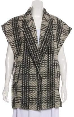 Alice + Olivia Wool-Blend Check Vest