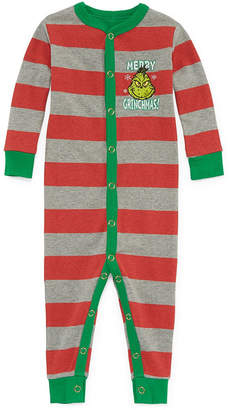 Asstd National Brand The Grinch 1 Piece Pajama -Baby Unisex