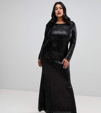 Plus Size Black Sequin Evening Dress Shopstyle Uk