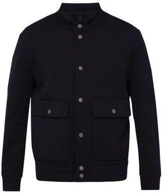 Harris Wharf London Flap Pocket Cotton Bomber Jacket - Mens - Dark Blue