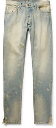 Rhude Skinny-Fit Distressed Denim Jeans