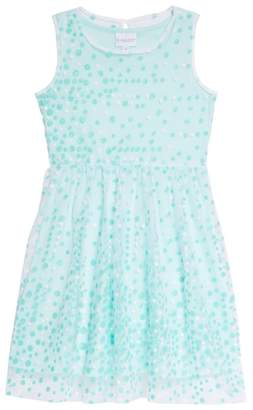 Frais Glitter Dot Sleeveless Dress