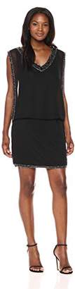 J Kara Women's Bead-Trim Cocktail Dress