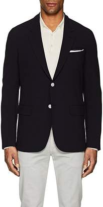 Caruso MEN'S PLAID JACQUARD WOOL CREPE TWO-BUTTON SPORTCOAT