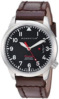 Momentum Women's 'Flatline 36' Quartz Stainless Steel and Leather Casual Watch