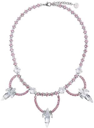 Miu Miu crystal jewel embellished necklace