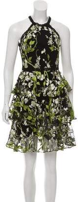 Marchesa Sleeveless Knee-Length Dress