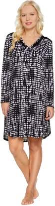 Carole Hochman Tie-Dye Stripe Rayon Spandex Sleepshirt
