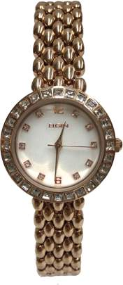 Elgin Ladies 5 Row Link With Sq Stones on Bezel