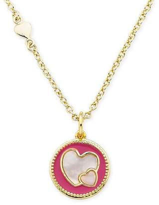 LMTS Girls' Heart Pendant Necklace, Hot Pink