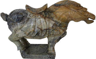 One Kings Lane Vintage Chinese Hand-Carved Marble Tang Horse