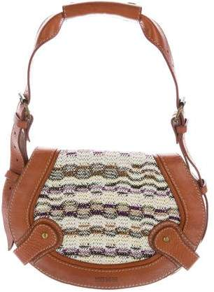 Missoni Leather-Trimmed Knit Bag