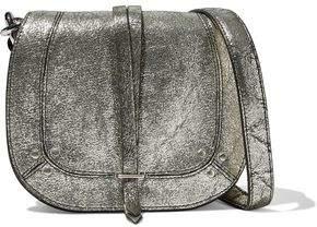 Jerome Dreyfuss Victor Metallic Cracked-Leather Shoulder Bag