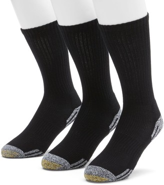 Gold Toe Goldtoe Men's GOLDTOE 3-pk. Outlast Temperature Control Crew Socks