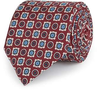 Reiss Frederico Medallion Design Silk Tie