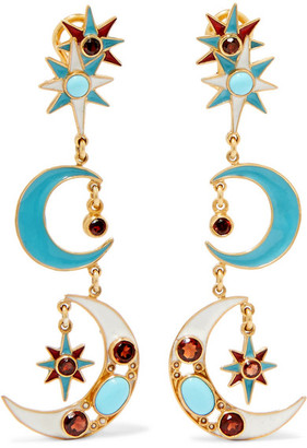 Percossi Papi - Gold-plated Multi-stone Earrings $895 thestylecure.com