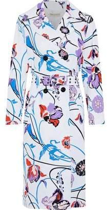 Emilio Pucci Floral-Print Cotton-Blend Faille Trench Coat
