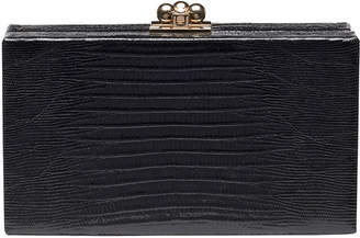 Edie Parker Jean Lizard Box Clutch Bag