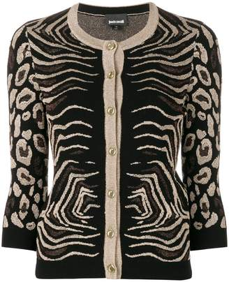 Just Cavalli animal pattern cardigan