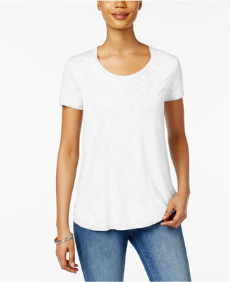 Style & Co Scoop-Neck T-Shirt, Created for Macy's $9.98 thestylecure.com