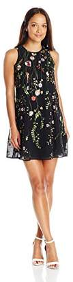 Calvin Klein Women's Petite Trapeze Dress with All Over Thread Embroidery