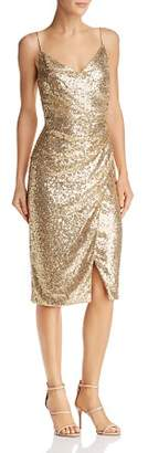 Black Halo Bowery Sequined Dress