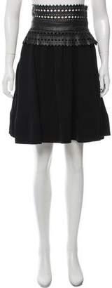 Elizabeth and James Laser-Cut Knee-Length Skirt