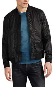 John Varvatos Men's Coated Twill Bomber Jacket - Black
