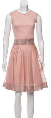 Christian Dior Sleeveless Silk Dress pink Sleeveless Silk Dress