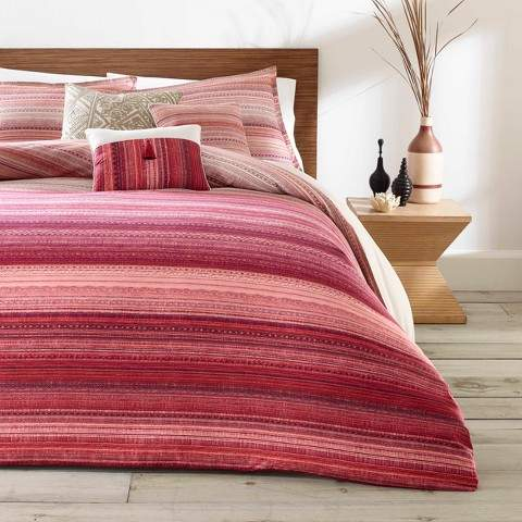Azalea Skye Red Diya Duvet Cover Set