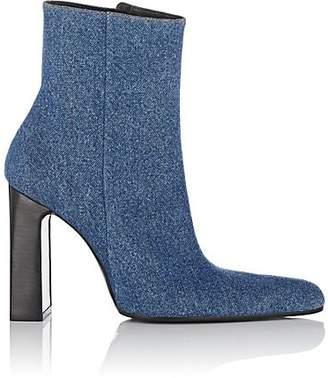 Balenciaga Women's Denim Ankle Boots - Blue