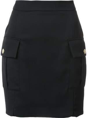 Pierre Balmain flap pocket mini skirt