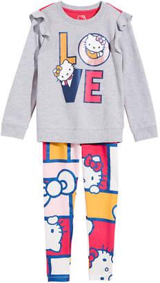 Hello Kitty Little Girls 2-Pc. Love Ruffle Top & Leggings Set