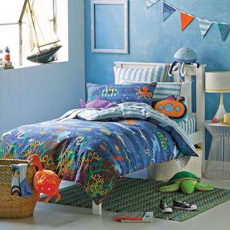 Hiccups Kids Deep Blue Sea Quilt Cover Set, Double