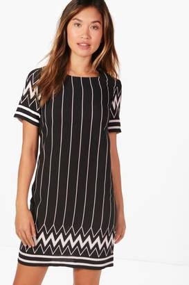 boohoo Lucy Printed Shift Dress